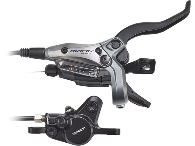 Shimano ALIVIO M4050/MT400 Skivebremse 'baghjul 9-speed PM', grey/black